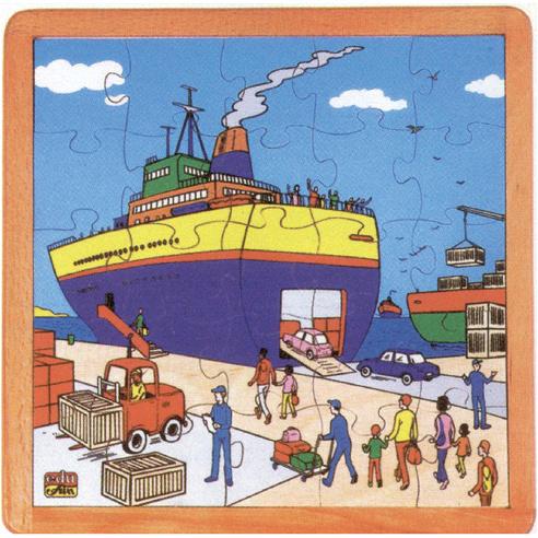 Puzzel in Lijst - Haven
