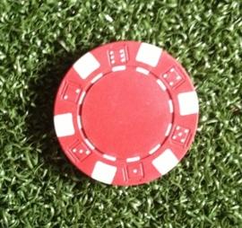 Ball marker (Pokerchips)  red-white