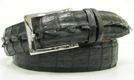 3-2571 Black, genuine American Hornback Crocodile leather.