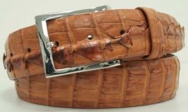 3-2573 Peanut, genuine American Hornback Crocodile leather.