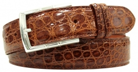3-2583 Cognac, Genuine Crocodile in soft Collection leather.