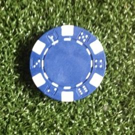 Ball marker (Pokerchips)  blue-white