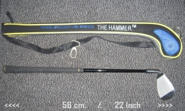 "Golfclub ""the Hammer"" can save you number of strokes on a 18-holes course."