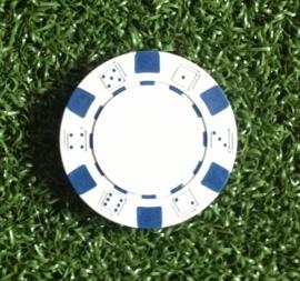 Ball marker (Pokerchips)  green-white