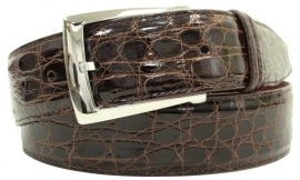 3-2592 Brown, Genuine Crocodile in soft Collection leather.