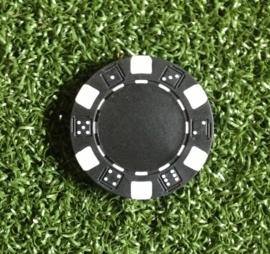 Ball marker (Pokerchips)  black-white