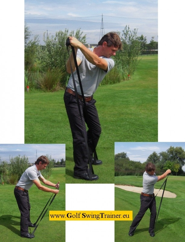 Golf Swing Trainer, for golfers who want to improve their game.