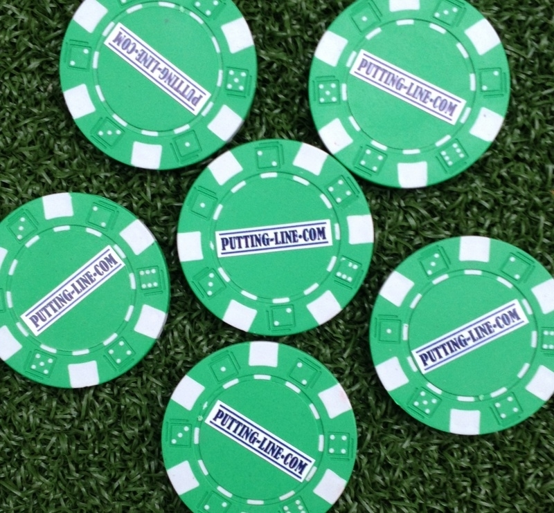 Ball marker (Pokerchips)  green-white