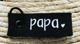 sleutelhanger papa zwart