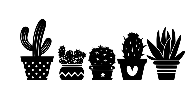 cactus raamstickers
