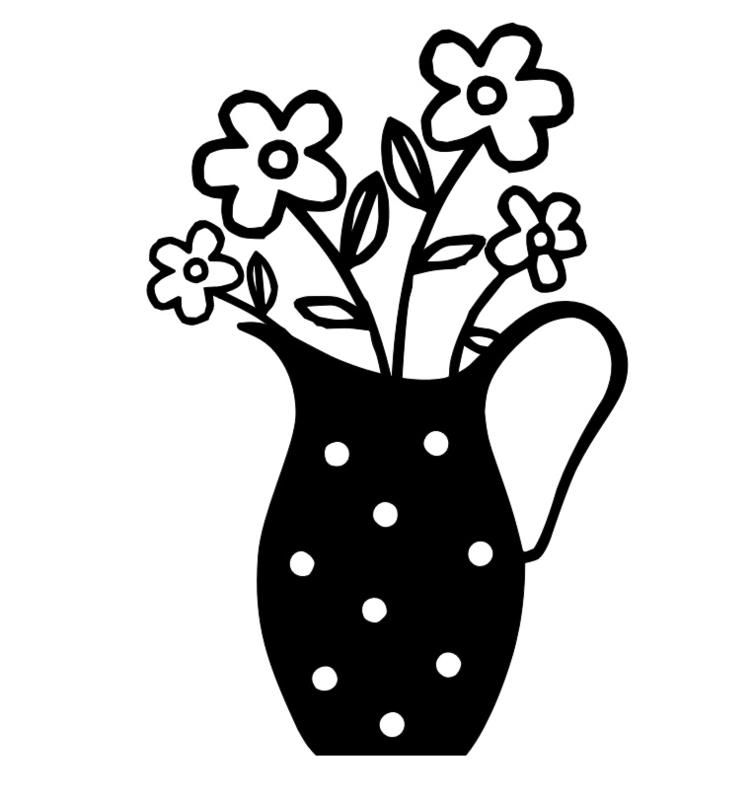 Karaf met bloemen