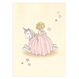 Belle & Boo ansichtkaart Unicorn Rocker