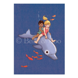 Belle & Boo postcard Dolphin Adventure