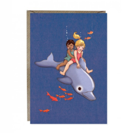 Greeting card Belle & Boo Dolphin Adventure