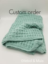 Custom order gehaakte deken & aapje