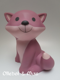 Money box Fox Cesar framboise