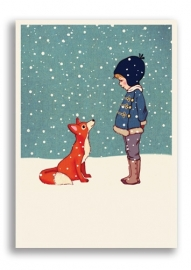 Belle & Boo postcard Hello mr Fox