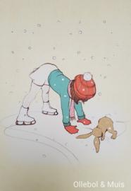 Belle & Boo ansichtkaart Shall we Skate