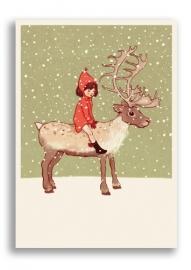 Belle & Boo postcard Me & My reindeer
