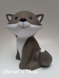 Money box Fox Cesar warm grey