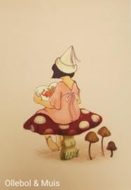 Belle & Boo ansichtkaart Reading