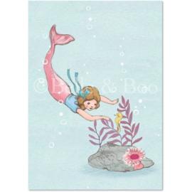 Belle & Boo ansichtkaart Hello Mr Seahorse