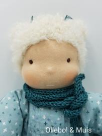 Soft doll slappe Lijs mint green blond hair