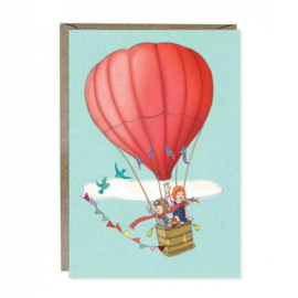 Greeting card Belle & Boo Balloon Adventure