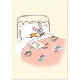 Belle & Boo ansichtkaart Get well soon