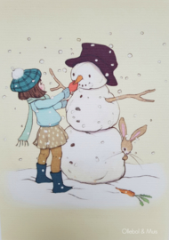 Belle & Boo ansichtkaart Build a Snowman