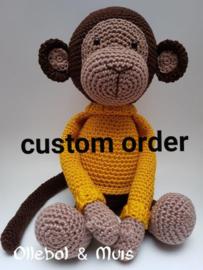 Custom order gehaakte aap