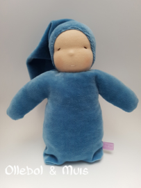 Knuffelpopje blauwe velours