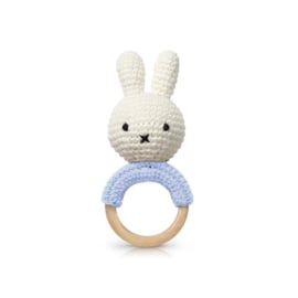 Miffy teether / rattle soft blue