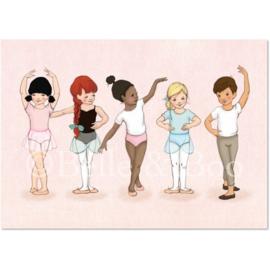 Belle & Boo ansichtkaart Little Dancers