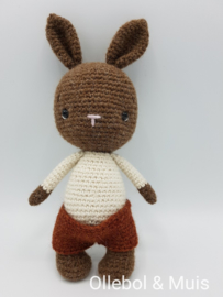 Crocheted rabbit white sweater