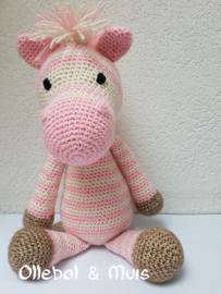 Crochet pink zebra