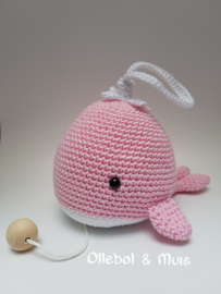 Music box whale pink