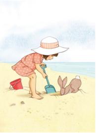 Belle & Boo Postkarte Seaside and Sandcastles