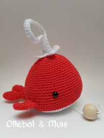 Music box whale red