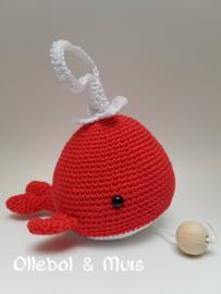 Muziekdoosje walvis rood