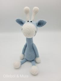 Gehaakte giraf ice-blue