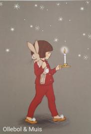 Belle & Boo ansichtkaart Night time