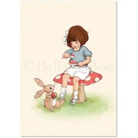 Belle & Boo ansichtkaart Strawberries & Cream