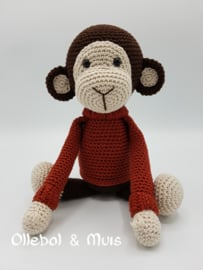 Crochet monkey chestnut
