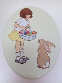 Easter tin Belle and basket with eggs