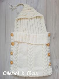 Sleeping bag creme white