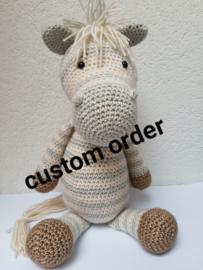 Custom order Zebra Guus