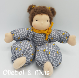 Waldorf cloth doll, soft cotton body