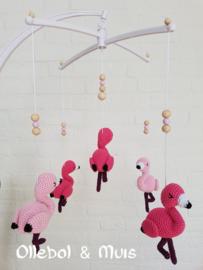 Muziekmobiel flamingo's