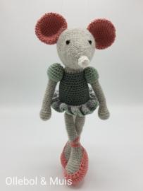 Ballerina muis licht grijs